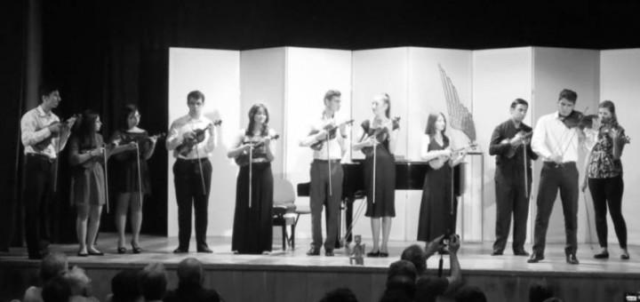 tineri violonisti