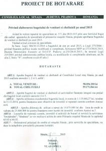 proiect buget 2015