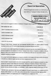 raport specialitate SC TRANSPORT URBAN
