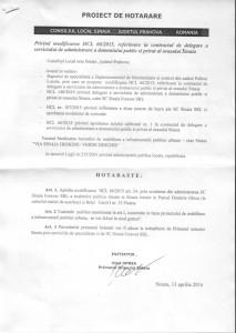 proiect delegare serviciu administrare domeniu public